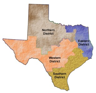 Texas - shaded districts - optimized